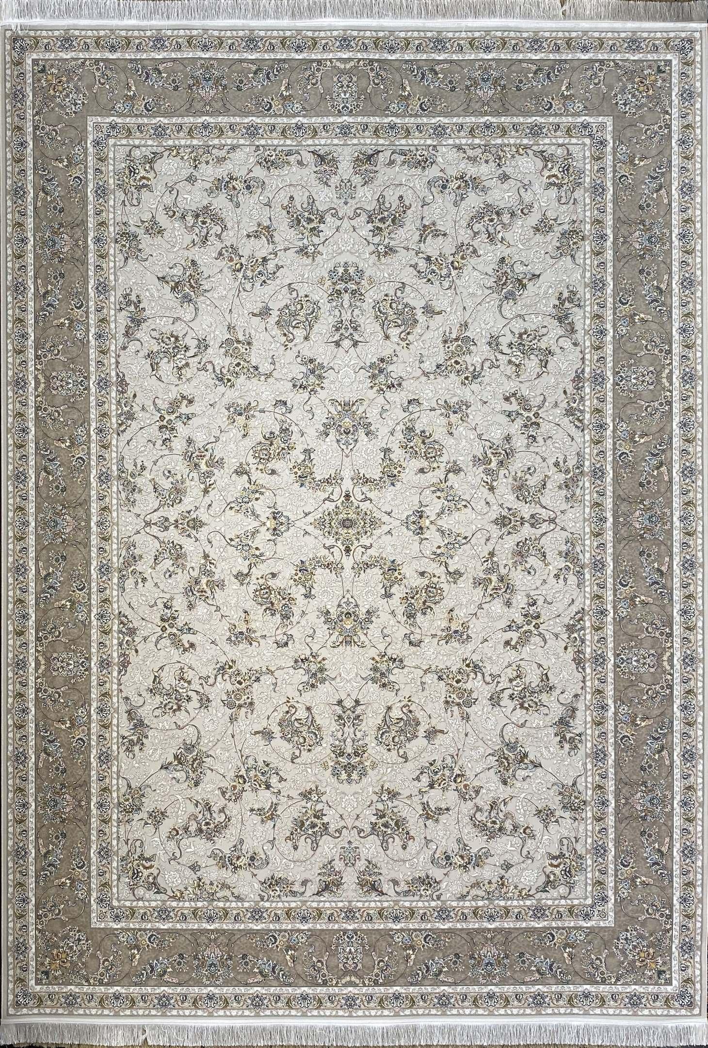 فرش کاشان- نقشه مهرسا کرم گلبرجسته