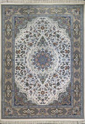 فرش کاشان -نقشه رزباران ۱۰۰۰ شانه کرم