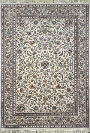 فرش کاشان -نقشه افشان صفوی۱۰۰۰ شانه کرم گلبرجسته