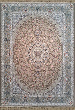 فرش نقشه یکتا رنگ بژ گلبرجسته