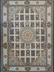 فرش کاشان – ۱۲۰۰ شانه مدل ارگ رنگ دودی
