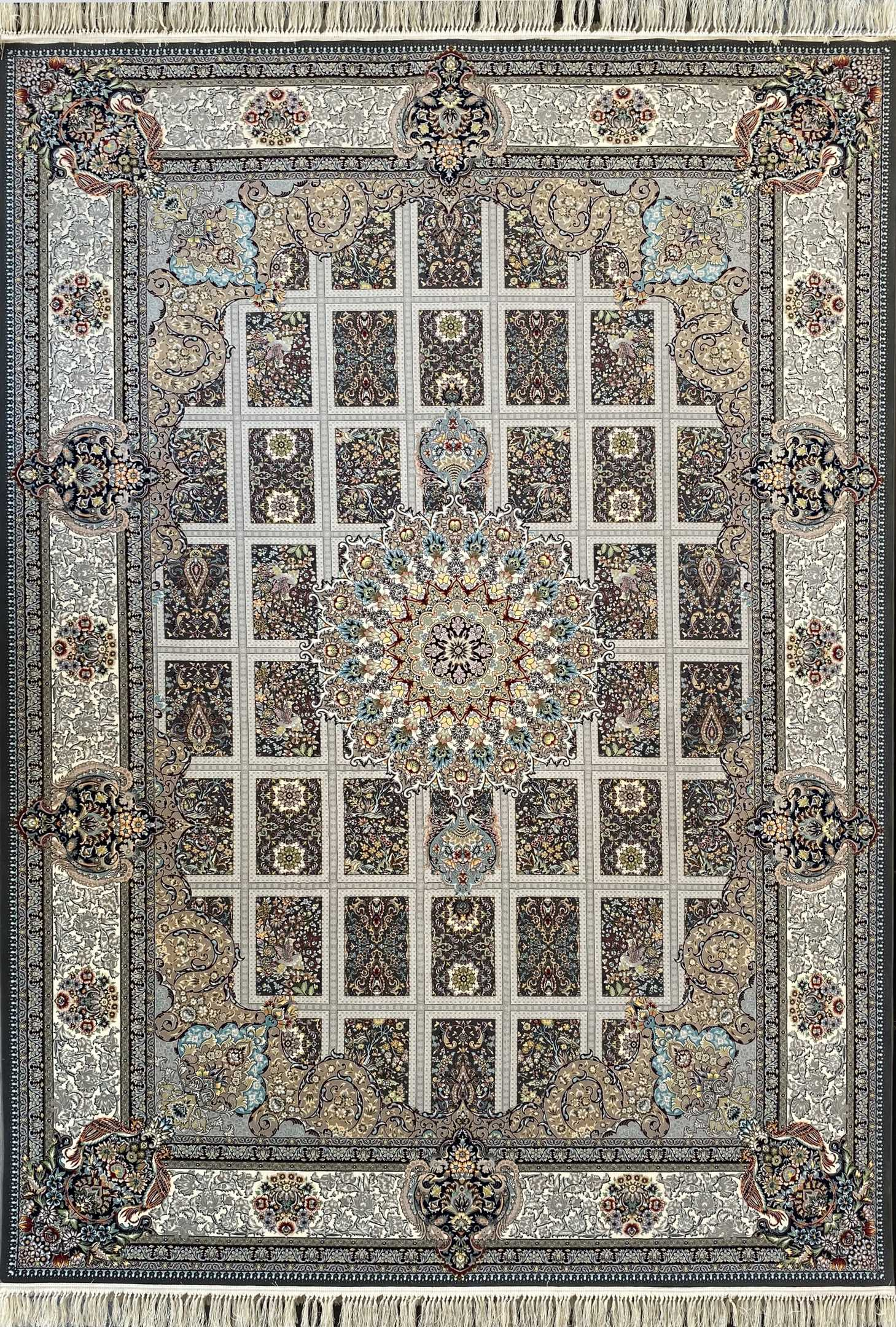 فرش کاشان – 1200 شانه مدل ارگ رنگ دودی