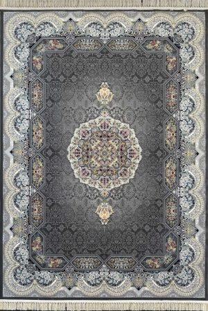 فرش کاشان – ۱۲۰۰ شانه مدل هالیدی رنگ دودی