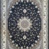 فرش کاشان -نقشه اصفهان ۱۵۰۰ شانه سرمه ای گلبرجسته