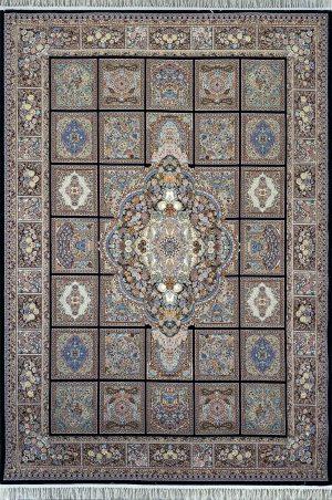 فرش نقشه کژال سرمه ای