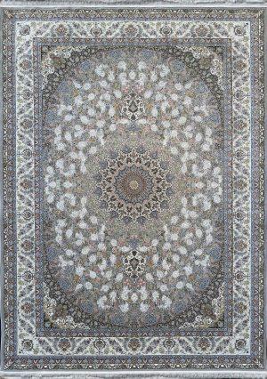 فرش کاشان -نقشه طاووس ۱۵۰۰ شانه سیلور گلبرجسته