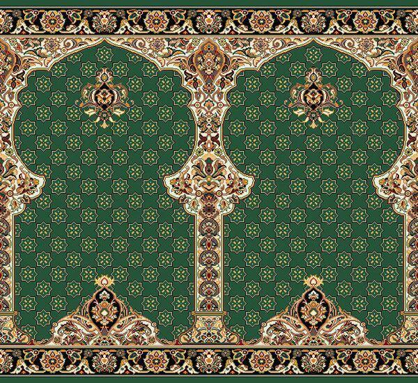 فرش سجاده ای طرح ترنم سبز