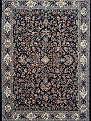 فرش کاشان – ۱۲۰۰ شانه نقشه کیمیای سعادت رنگ سرمه ای