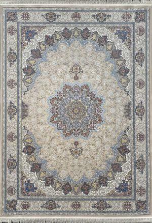 فرش کاشان -نقشه سروناز ۱۰۰۰ شانه کرم گلبرجسته