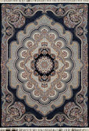 فرش نقشه باغ ملک سرمه ای ۷۰۰ شانه