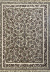 فرش کاشان -طرح گلسرخ  ۱۰۰۰ شانه بژ گلبرجسته