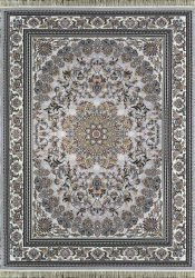 فرش کاشان میخک ۷۰۰ شانه گلبرجسته رنگ نقره ای