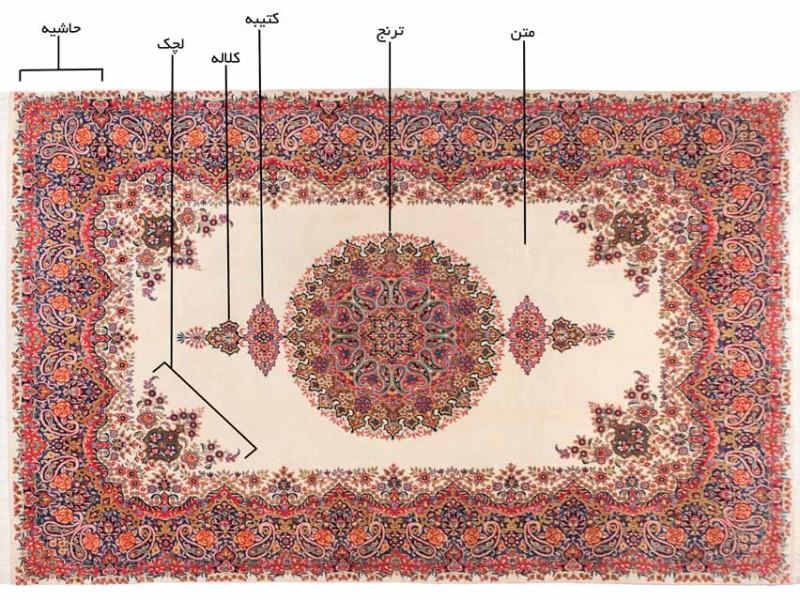 قالی لچک ترنج