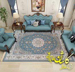 فرش رنگ ابی