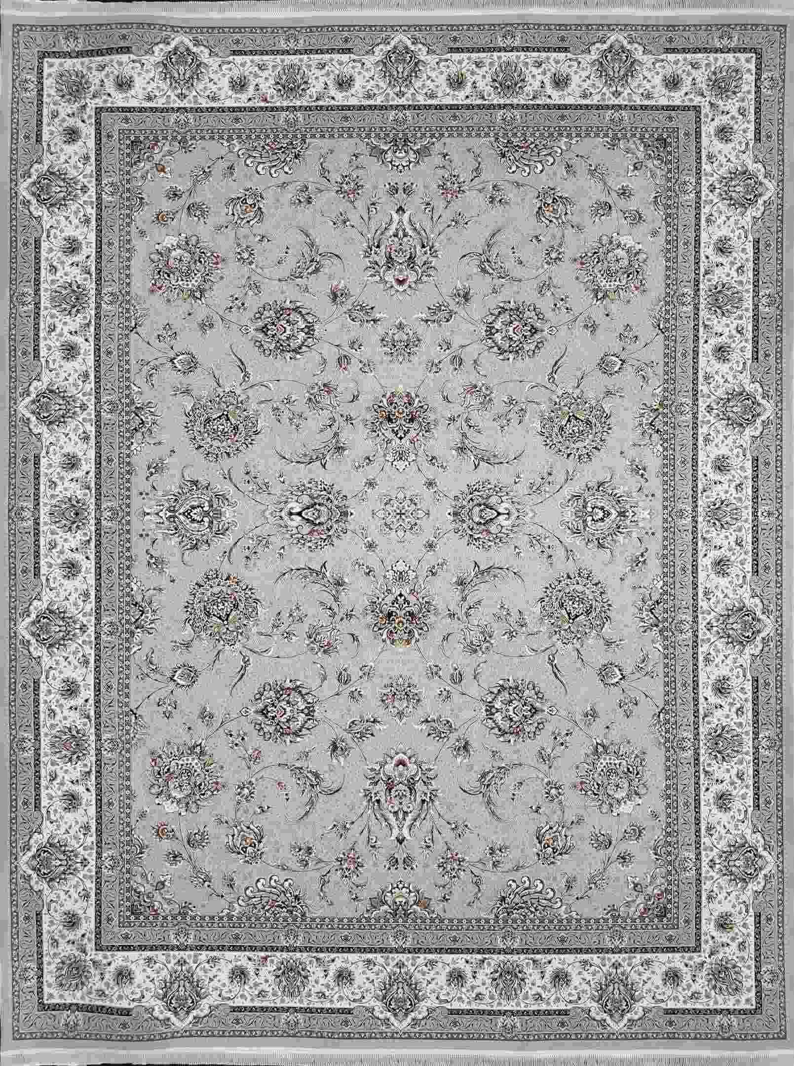 فرش 1500 شانه افشان رنگ نقره ای