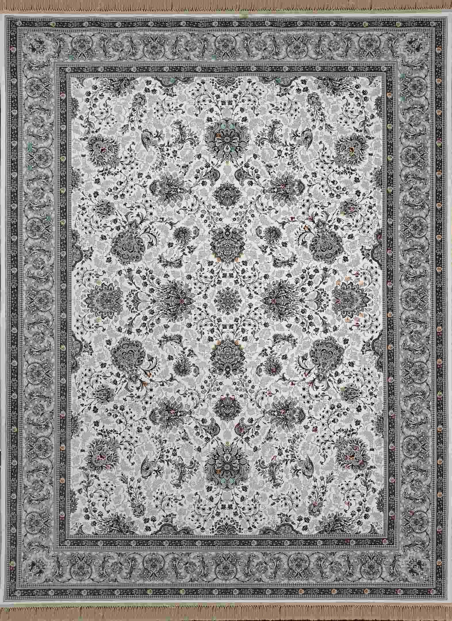 فرش  1200 شانه افشان آنالی رنگ کرم