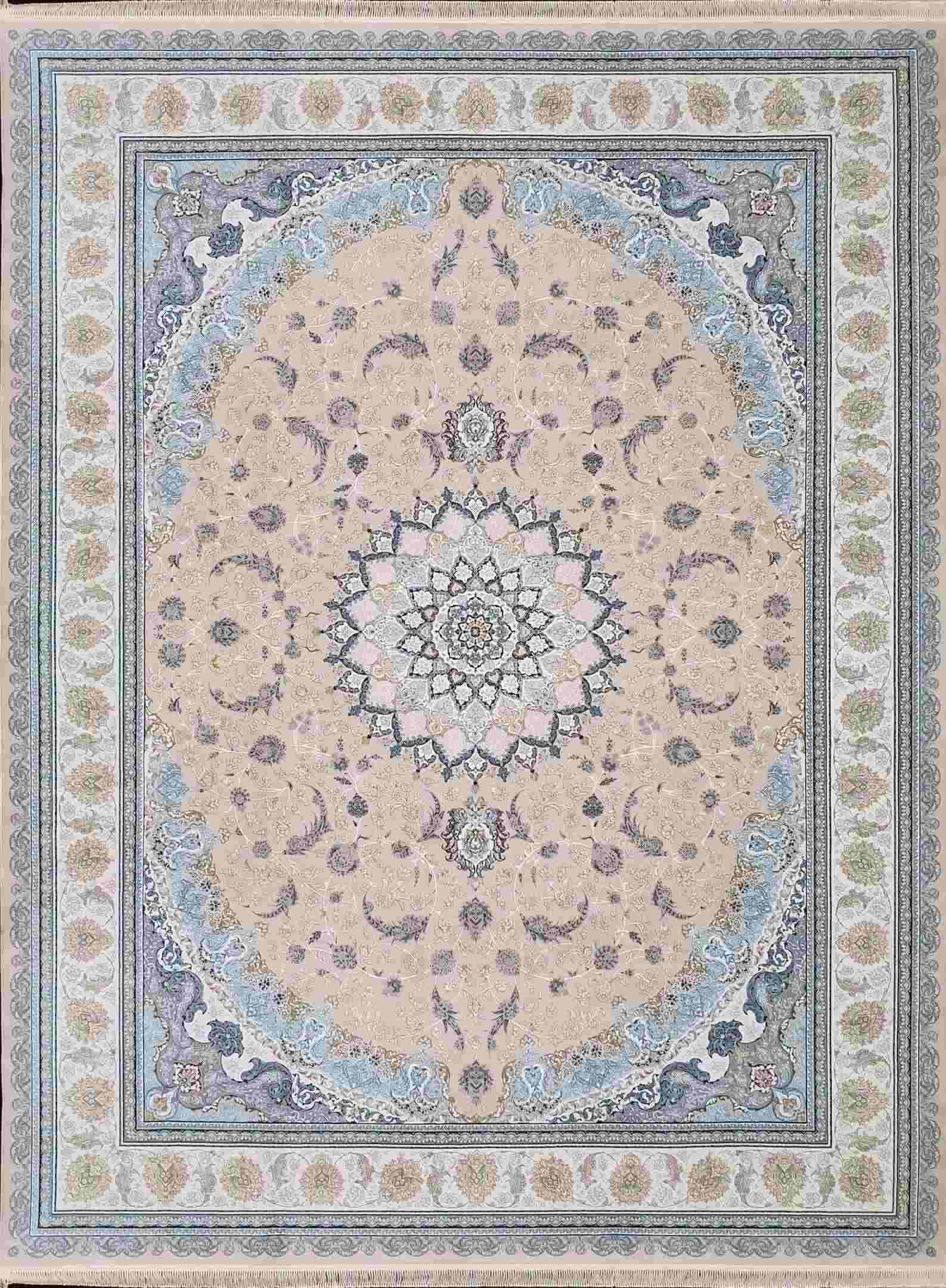 نقشه اصفهان 1200 شانه گلبرجسته رنگ کرم