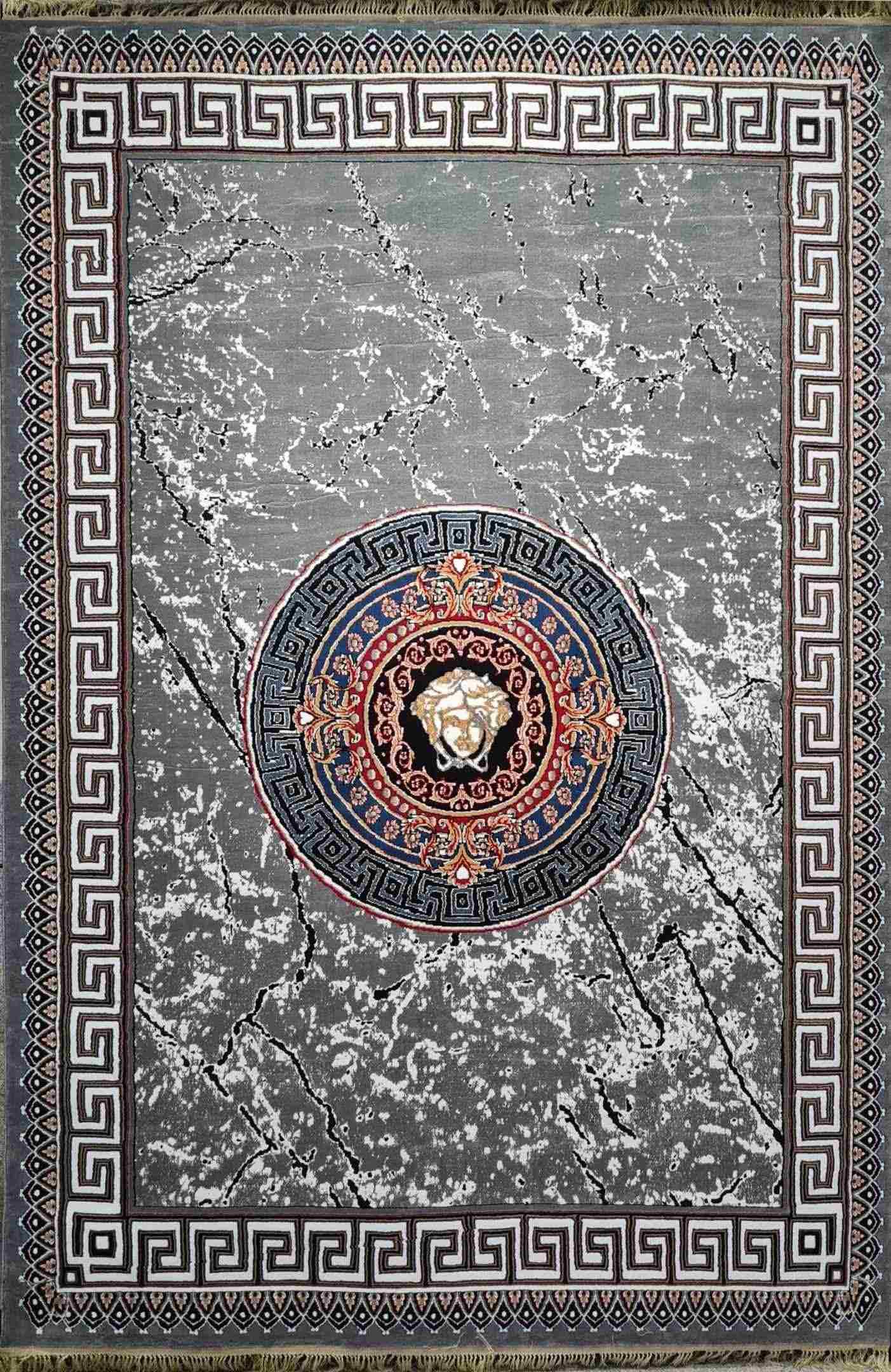 فرش 500 شانه پلی استر نقشه فانتزی فان رنگ فیلی
