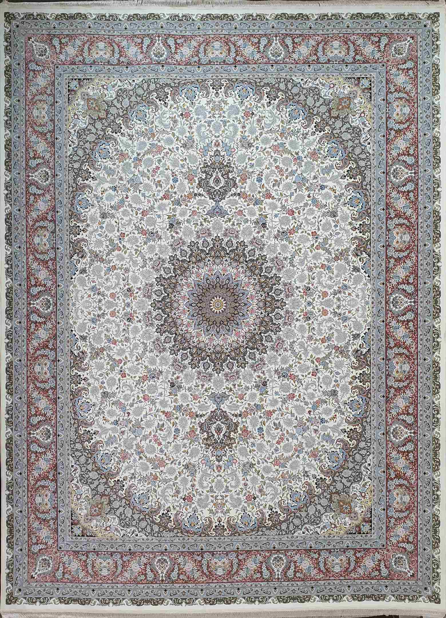 فرش 1500 شانه طرح صاحبقران رنگ کرم